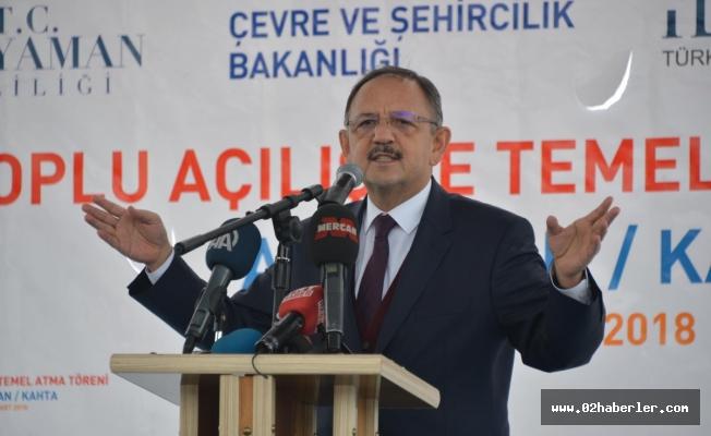 """Bakan Özhaseki: """"Adıyaman Bizim Gözbebeğimiz"""""""