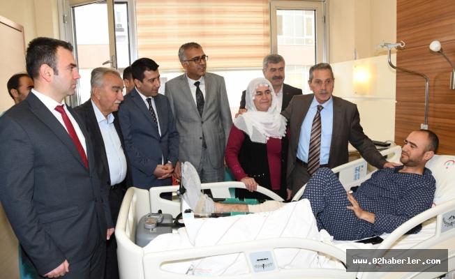 Vali Kalkancı'dan Afrin Gazisine Ziyaret