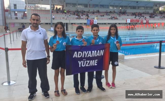 Yüzücülerimiz Madalyaları Kaptı