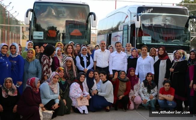 AK Parti Adıyaman İl Kadın Kolları'ndan, Ankara'daki Kongreye Yoğun Katılım