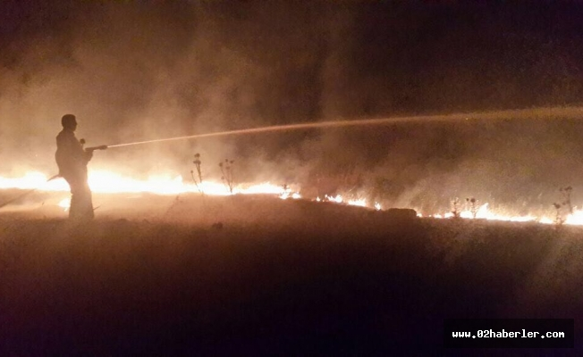 Bilinçsiz Yakılan Anız Yangını Ekiplere Zor Anlar Yaşattı