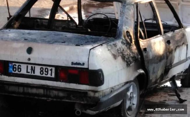 Eksozuna Kaynak Yapılan Otomobil Yandı