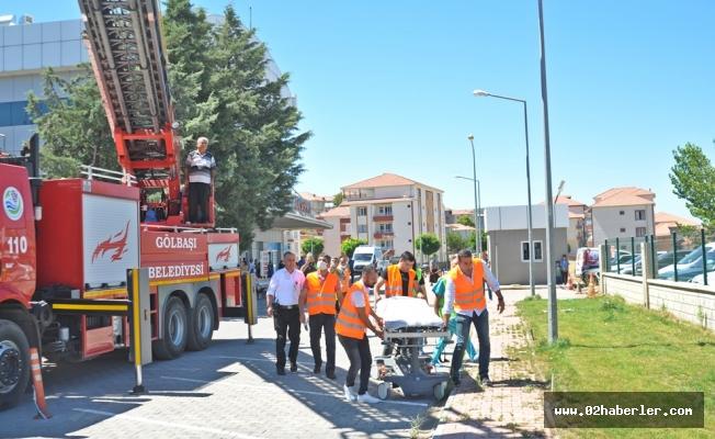Gölbaşı Devlet Hastanesi'nde Yangın Tatbikatı Yapıldı