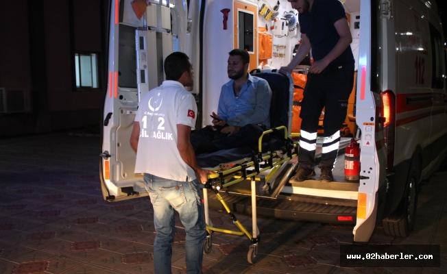 Kahta'da Otomobil Şarampole Yuvarlandı: 4 Yaralı