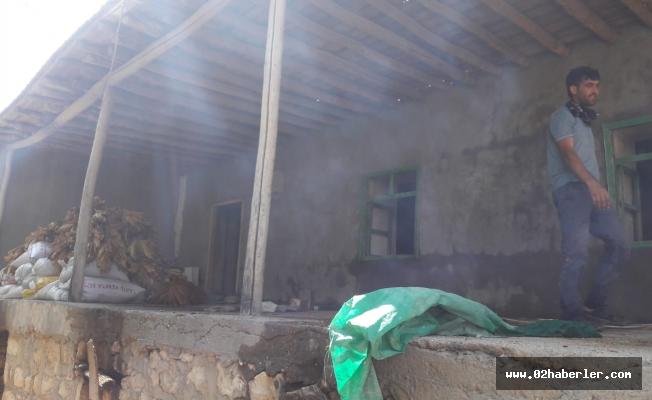 Sincik'te Ev Yangını