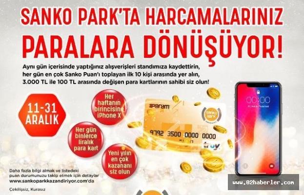 Sanko Park'ta Harcamalar Paralara Dönüşüyor