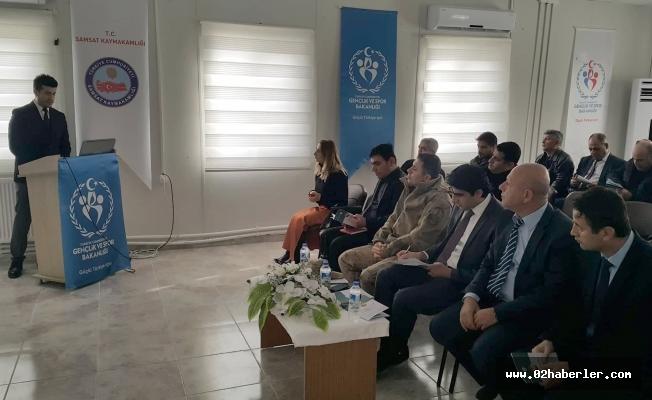Samsat'ta İKA'nın Mali Destek Programı tanıtıldı