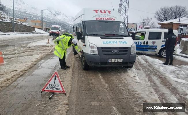 Tut İlçe Emniyeti sürücülerin içini ısıtıyor