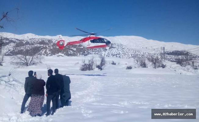 Hasta, Ambulans Helikopterle Kurtarıldı