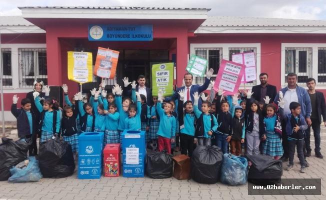 Köy okulundan 'Sıfır Atık' Projesine destek