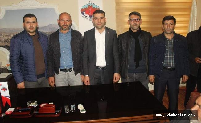 Gerger Belediye Başkanı Aksoy göreve başladı