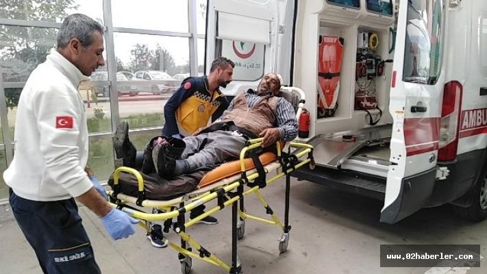 Engelli motosikleti devrildi: 4 Yaralı