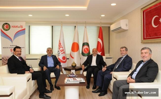 Göksu'dan, HAK-İŞ Genel Başkanı Arslan'a Ziyaret