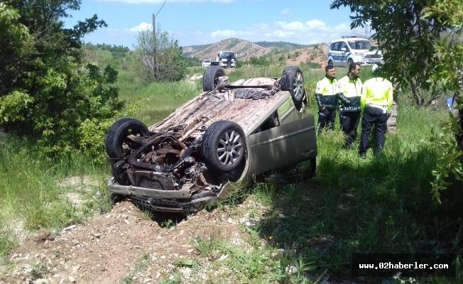 Gölbaşı'nda Otomobil Takla Attı: 1 Yaralı