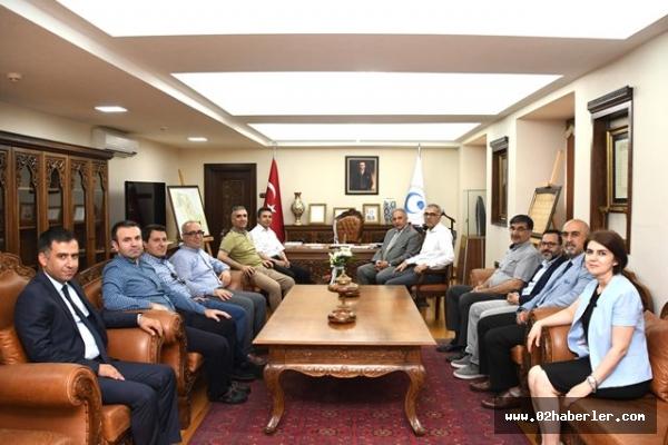 İl Sağlık Müdürlüğü Heyetinden Rektör Turgut'a Ziyaret