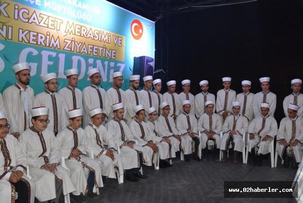 Kahta'da 42 hafız için icazet merasimi düzenlendi