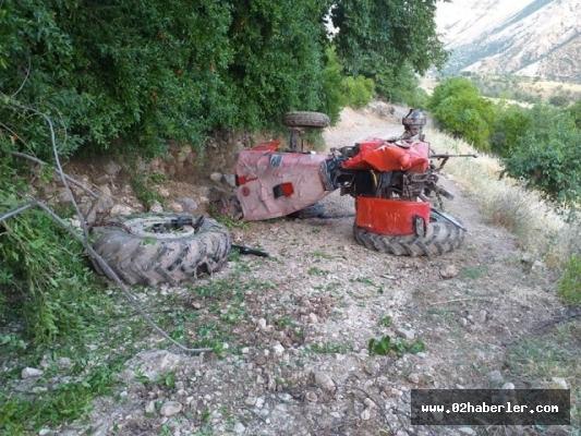 Takla atan traktörden, atlayarak kurtuldu