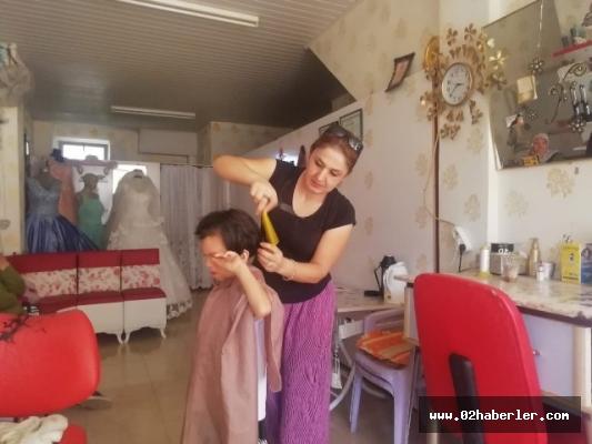 Fakir öğrencilere ücretsiz saç kesimi