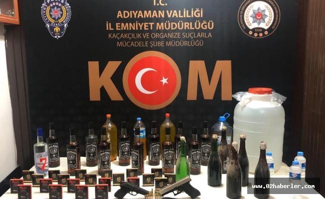 Adıyaman'da Kaçak İçki Operasyonu: 3 Gözaltı