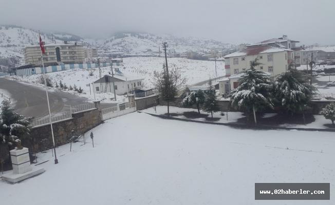 Adıyaman'da Kar Yağışı Etkili Oldu