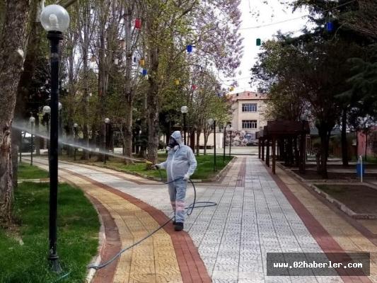 Şehrin Her Köşesi Dezenfekte Ediliyor