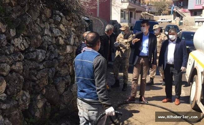 Gölbaşı'nda Köylerde Dezenfekte Çalışması