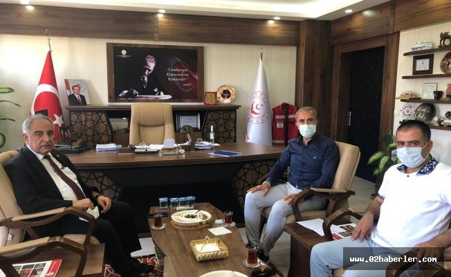 Rektör Turgut'tan Çelik'e Ziyaret