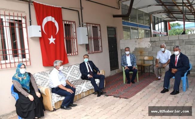 Vali Çuhadar'dan Şehit Ailelerine Ziyaret