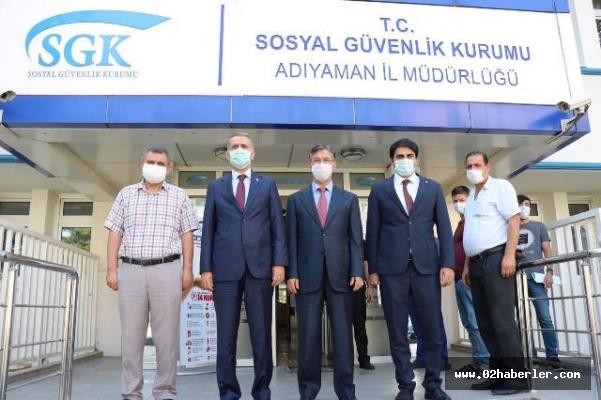 Vali Mahmut Çuhadar'dan Sgk'ya Ziyaret