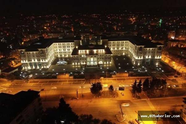 Modern Bina Gece Işıl Işıl