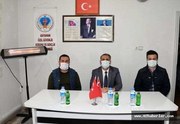 Vali Çuhadar'dan Güvenlikçiler Derneğine Ziyaret