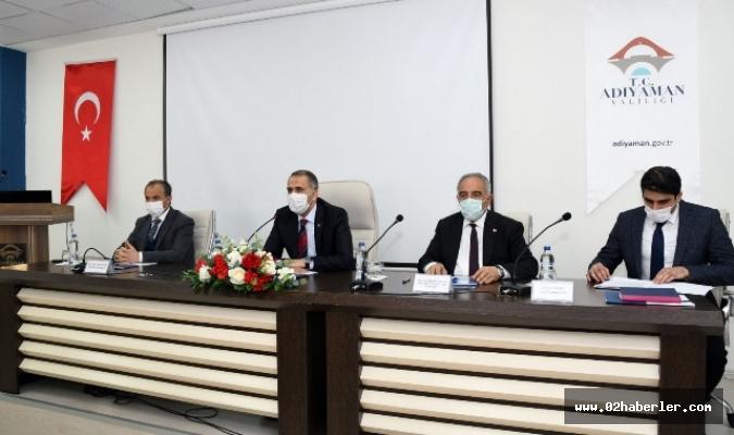 Adıyaman'da Geniş Kapsamlı Koronavirüs Toplantısı Yapıldı