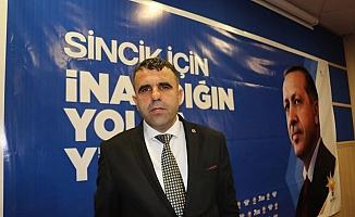 Öksüz Yeniden AK Parti Sincik İlçe Başkanlığına Seçildi