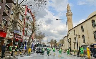 Cadde ve Sokaklarda Koronavirüs Temizliği