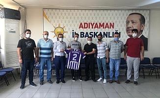 İmamağa Spor Kulübü Yönetiminden Başkan Dağtekin'e Ziyaret