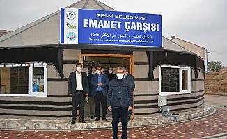 Besni Belediyesi tarafından Emanet Çarşısı Kuruldu