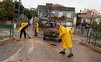 Besni Belediyesinden Yağmur Mesaisi