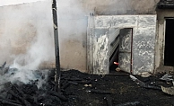 Kahta'da Ahır Yangını