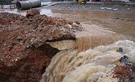 Şiddetli Yağmur, Kahta'yı Su Altında Bıraktı