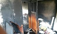 Besni'de ev yangını