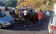 Otomobiller kafa kafaya çarpıştı: 1 yaralı
