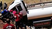 Yakıt tankeri şarampole uçtu: 1 ölü